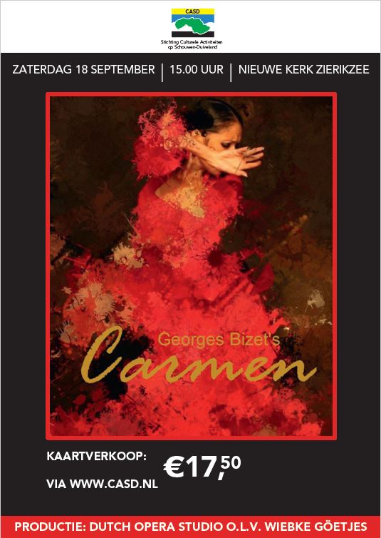 Opera Carmen, ……… za. 18 september 2021 15:00 uur